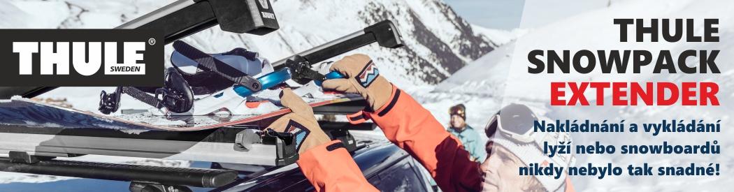 upevnění lyží na třechu od THULE