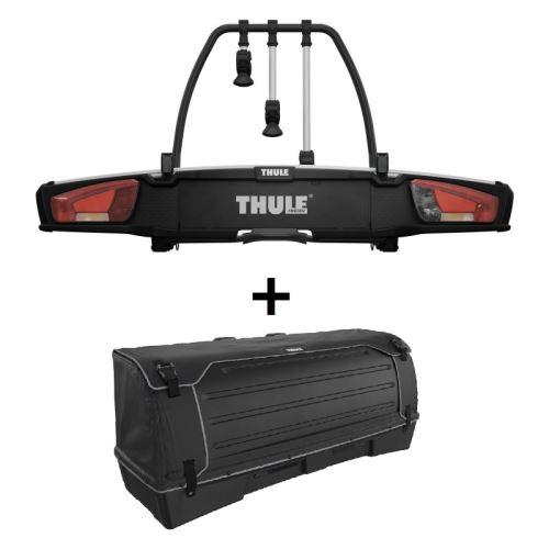 Nosič jízdních kol VeloSpace XT Thule 939 pro 3 jíízdní kola + box Thule BackSpace XT 938