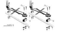 Zvyšovací podložky k nosiči lyží HAKR /sada 4ks/