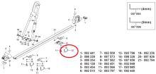 Hákový šroub M6 úchytu nosičů kol Atera Giro (AR093797)