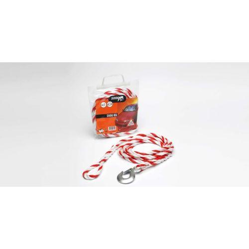 Tažné lano 2000kg v plast. tašce (oko + hák)
