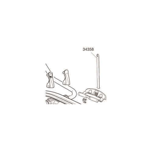 Uchycovací pásek pro střešní nosiče kol Thule ProRide 591 (34358)