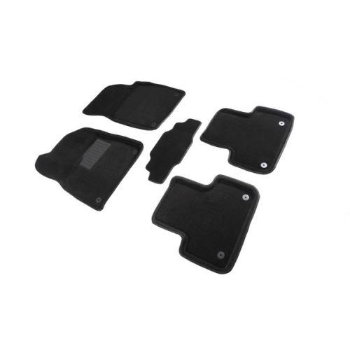 Koberce přesné textilní AUDI Q7, černé, 2015-
