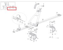 Čtvercová matka T-adaptéru k nosičům Atera Giro (AR093439)
