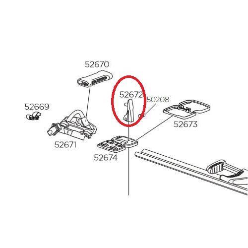 Plastová dotahovací spona Thule 52672 pro TH598 (52672)