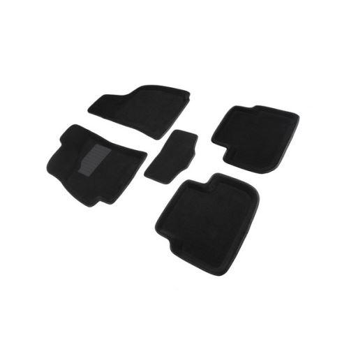 Koberce přesné textilní CHEVROLET LANOS, černé, 2005-