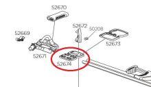 Plechový pojezd k uchycení ke střešnímu nosiči pro TH598 (52674)