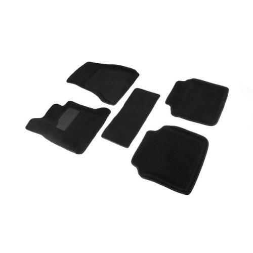 Koberce přesné textilní BMW 7, černé, 2015-