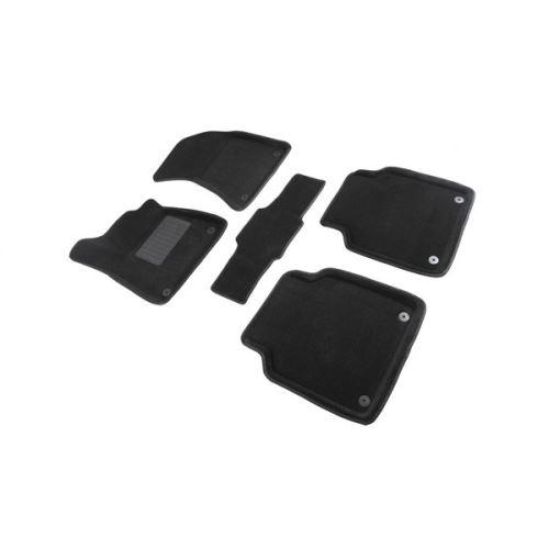 Koberce přesné textilní AUDI A8, černé, 2010-