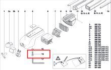 Upevňovací šroub patek střešních nosičů Atera Signo (AR087702)