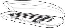 THULE, Držák lyží pro box Ocean600 (TH701)